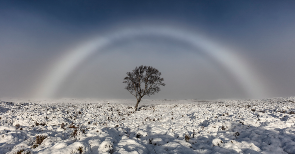 Rare White Rainbow Appears Over Scotland