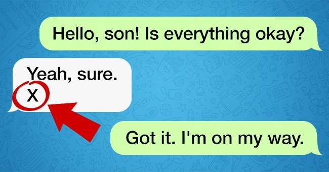 If You Receive a Message Like This, You've Got to Come to Your Kid's Help At Once
