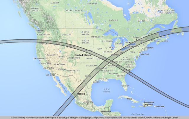Rare Solar Eclipse In 2017 And Another One 7 Years Later In 2024 Will Mark A Giant 'X' Across The United States