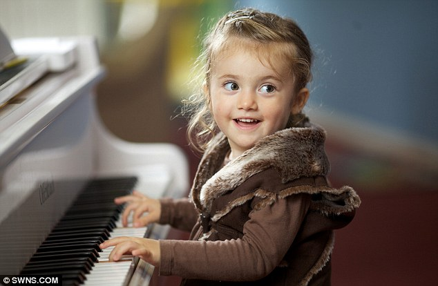 Mini Mozart: Experts Amazed As Girl, Two, Performs Her First Piano Concert Just Six Weeks After She Started Learning To Play