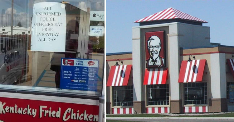 One KFC Location Is Paying Respect To Cops By Letting Them Eat Free