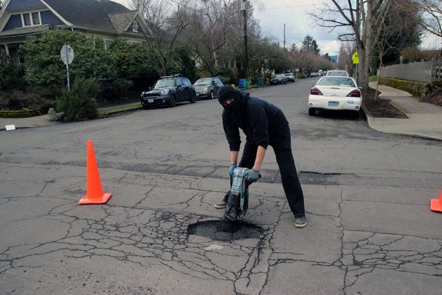 Anarchists Begin Fixing Roads and Potholes Because The Government Won't