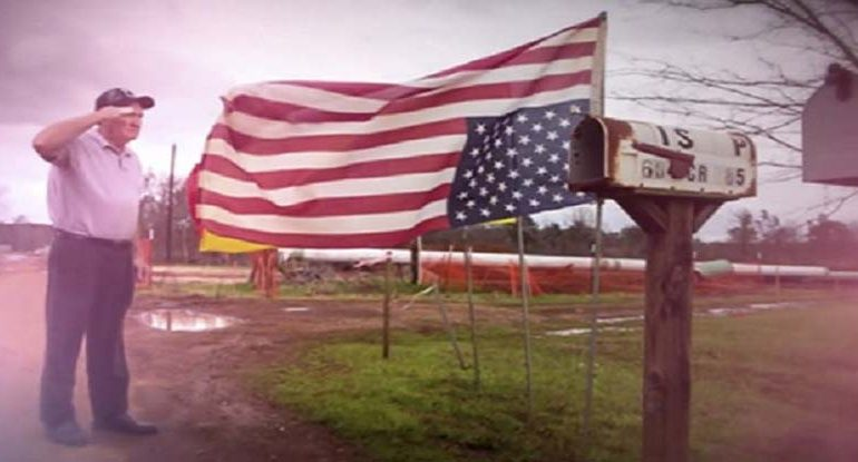 Vietnam Vet Arrested For Hanging US Flag Upside Down To Protest Eminent Domain