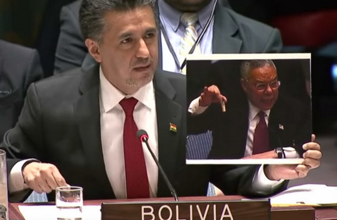 Bolivia Mercilessly Trolls US Over Iraq WMD Lie In Front of UN Security Council