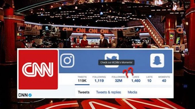 CNN Caught Purchasing 16 Million Fake Twitter Followers