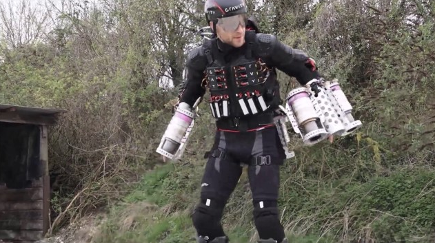 Inventor Shows off Homemade 'Iron Man' Suit In Flight