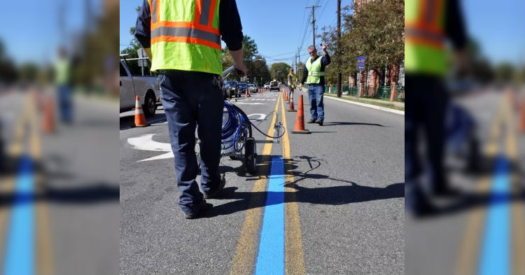 Mayor Of Small Town Is Getting National Attention After He Explains Reason For Blue Stripe