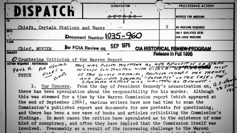 This 1967 CIA Memo Is Still Used to Discredit Conspiracy Researchers Today