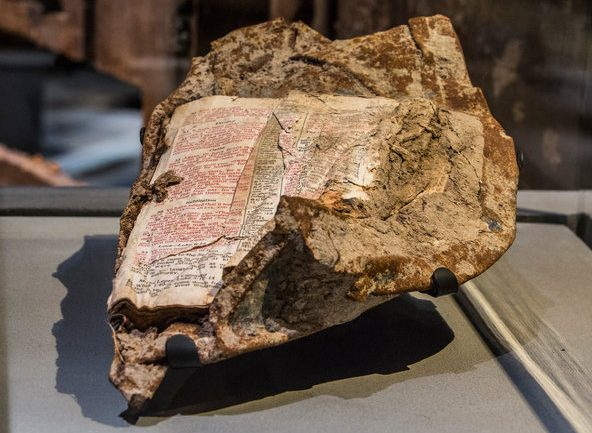 Bible Page Found Fused to Steel From World Trade Center…3 Ominous Words of Jesus Emerge at Ground Zero…. What It Said Will Blow Your Mind