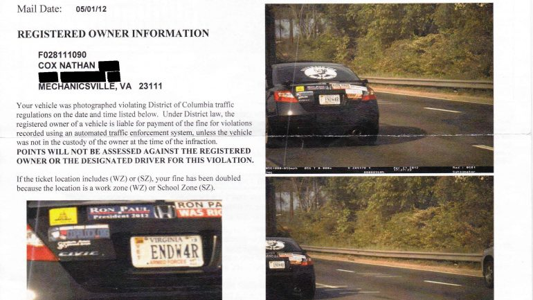 How To Beat a Photo Enforced Speeding or Red Light Ticket