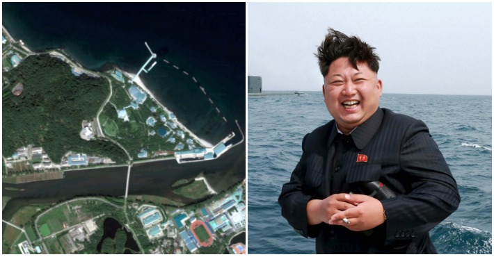 Google Earth Reveals Kim Jong-un's Secret 'Floating Pleasure Palace' Complete With Its Own Train Station