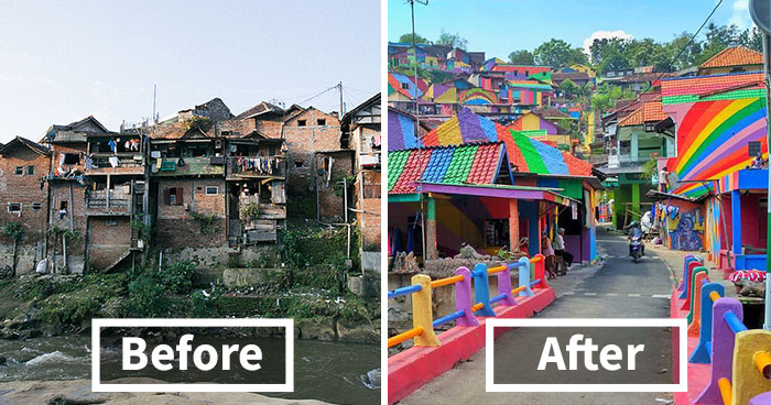 Indonesian Government Invests $22,467 To Paint 232 Slum Houses, and Result Is Amazing