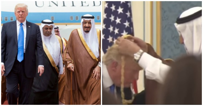 The Internet Can't Get Over The Video of Trump Apparently Curtseying in Front of Saudi King
