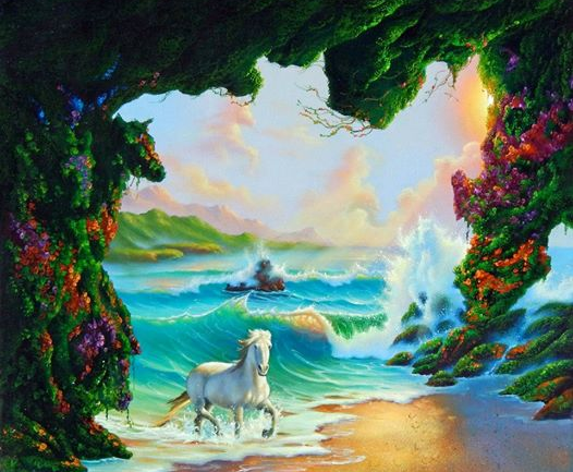 Believe It Or Not, There Are 7 Horses Hidden In This Painting. Can You Spot Them All?