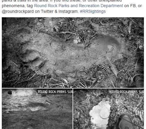 Texas Park Releases Photos Of Bigfoot Prints