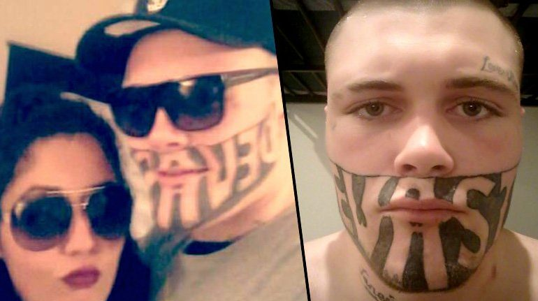 Man With 'DEVAST8' Face Tattoo Complains He Can't Find Work
