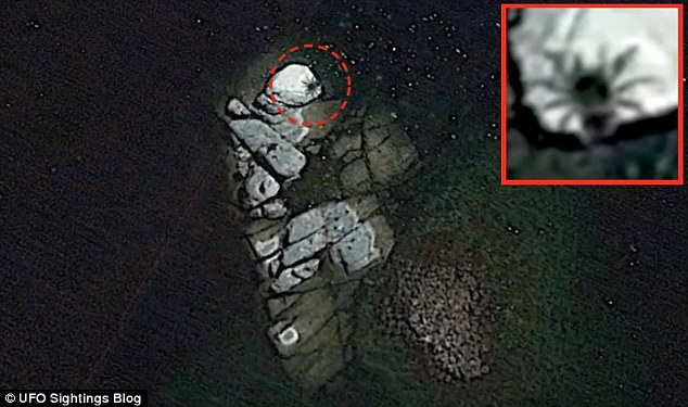 UFO Hunters Claim They've Found A Giant 'Insect' On A Remote Island Using Google Earth Off The Coast Of Mexico