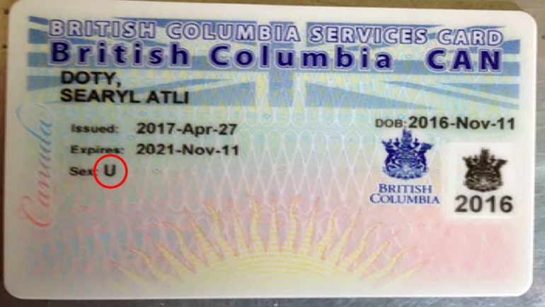 Canada Issues 'Unknown' Health Card To Gender Neutral Baby