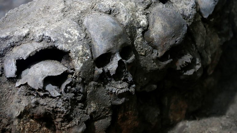 Ancient Tower Of Skulls Found Beneath Mexico City