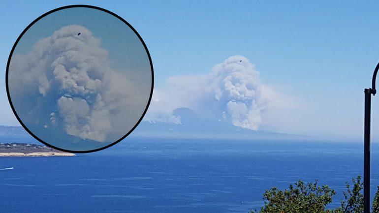 Menacing Skull Cloud Rises Above Vesuvius In Apocalyptic Scene
