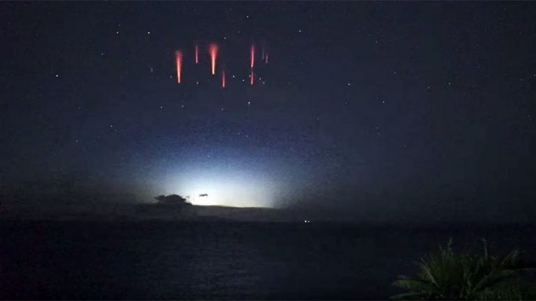 Aussie Astronomer Captures Rare Footage of 'Upside Down' Lightning Sprites