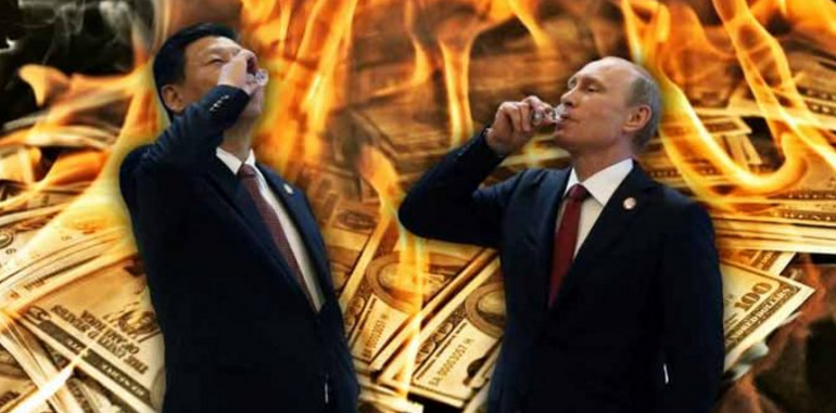 Russia & China Declare All Out War On US Petrodollar — Prepare For Exclusive Trade In Gold