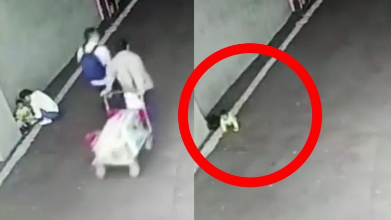 Surveillance Cameras Capture a Chinese Mother Abandoning Her Own Baby At A Car Park