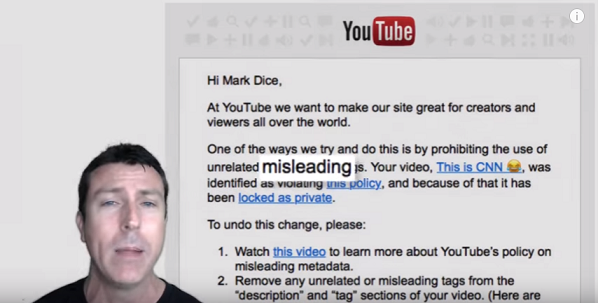 YouTube Hides Mark Dice's Video Exposing CNN As 'Fake News'