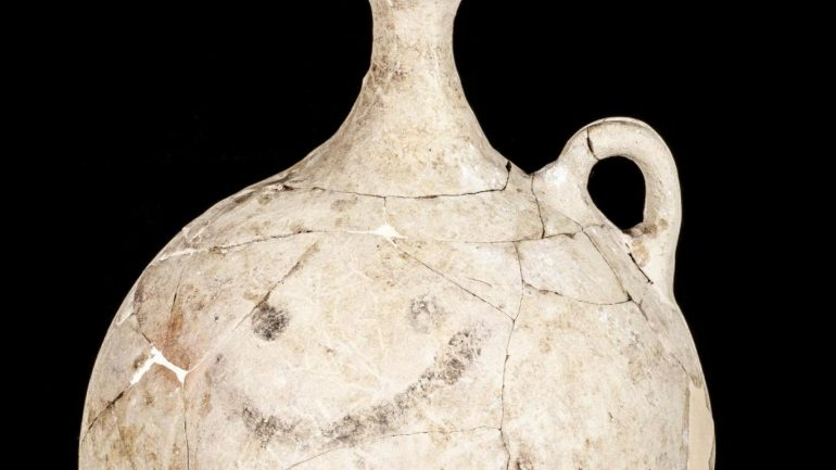 "World's Oldest ""Smiley Face"" Found On Ancient Jug In Turkey"