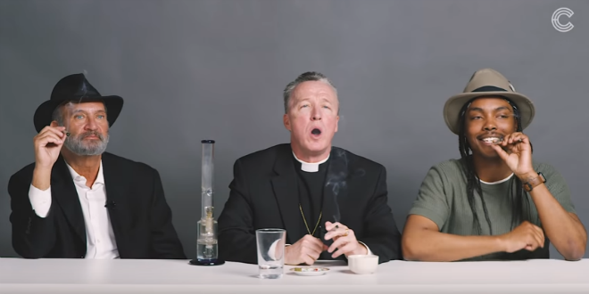 Viral Video: Priest, Rabbi and Atheist Smoke Weed and Talk About God