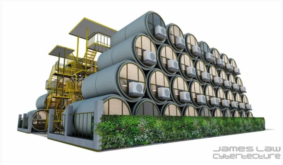 Low cost concrete pipe homes may be the next big trend in for Big houses for low prices