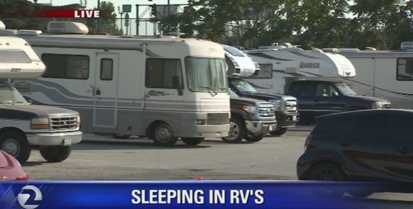 Los angeles has criminalized poverty by making it illegal for Motor homes los angeles
