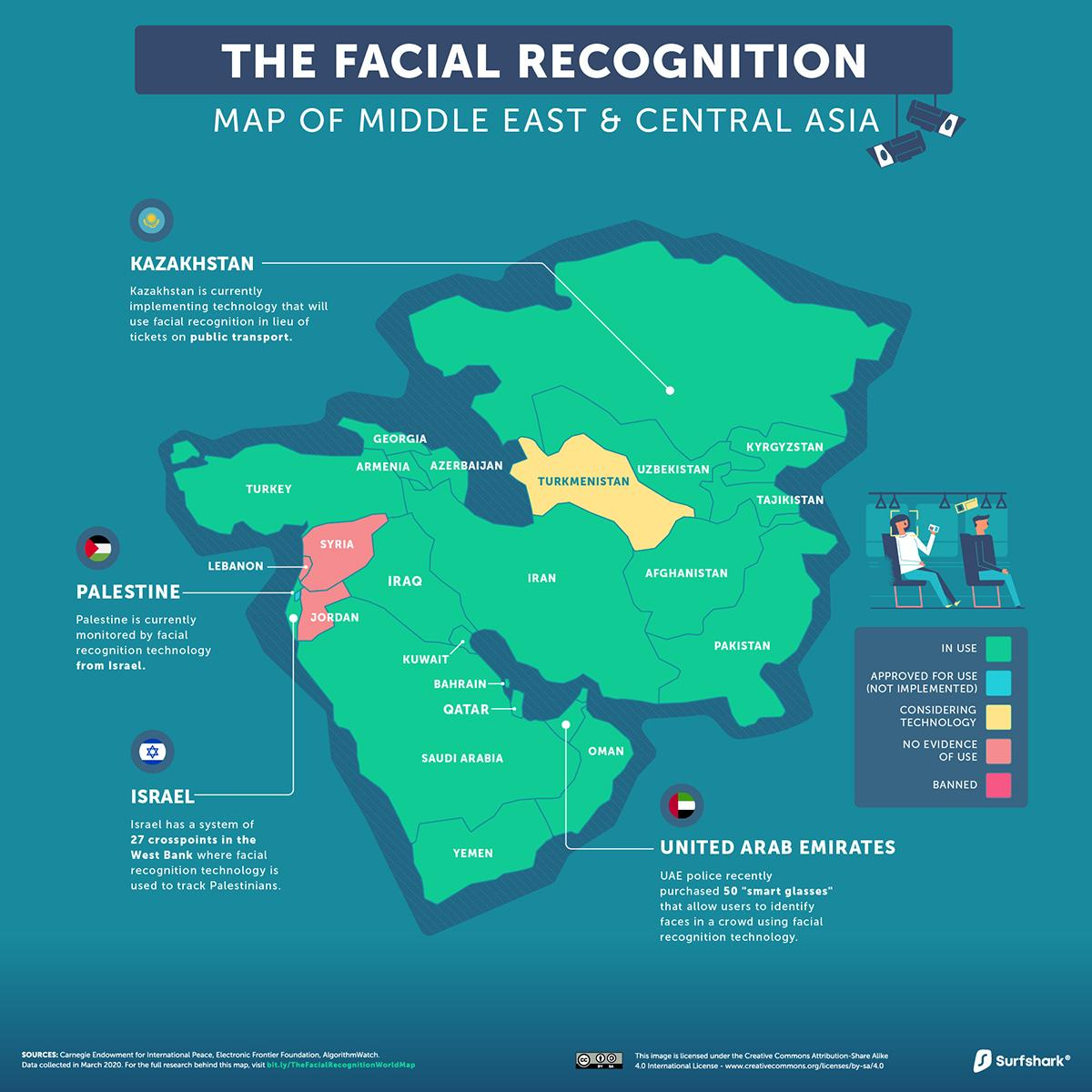 Facial-Recognition-Middle-East-Central-Asia-Map