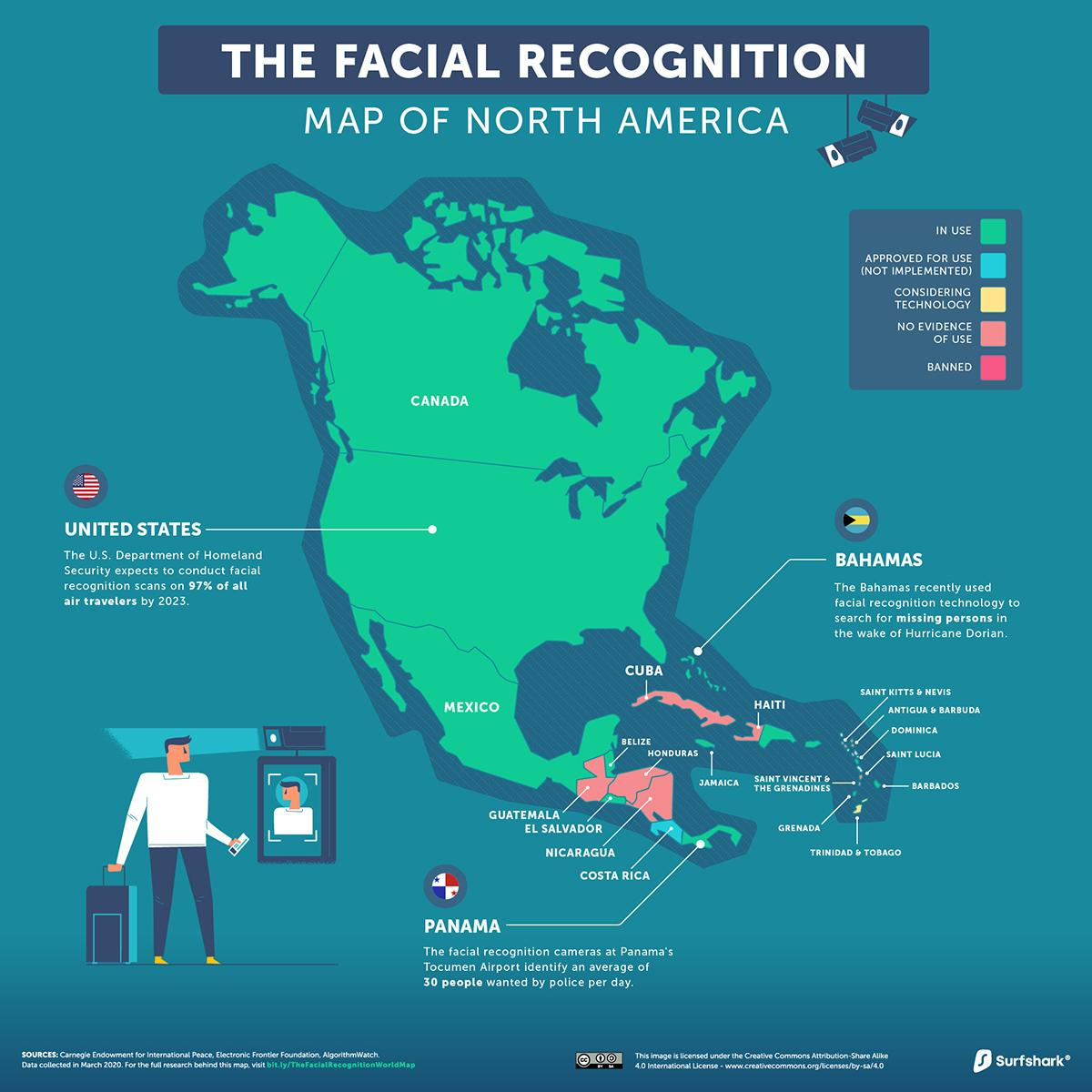 Facial-Recognition-North-America-Map